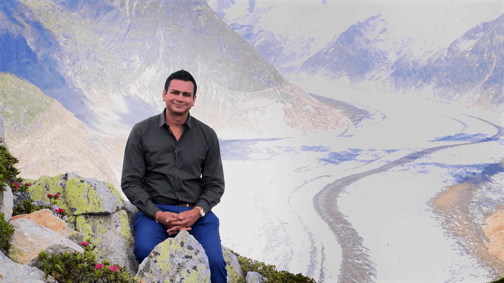 ashok sitting on mountain