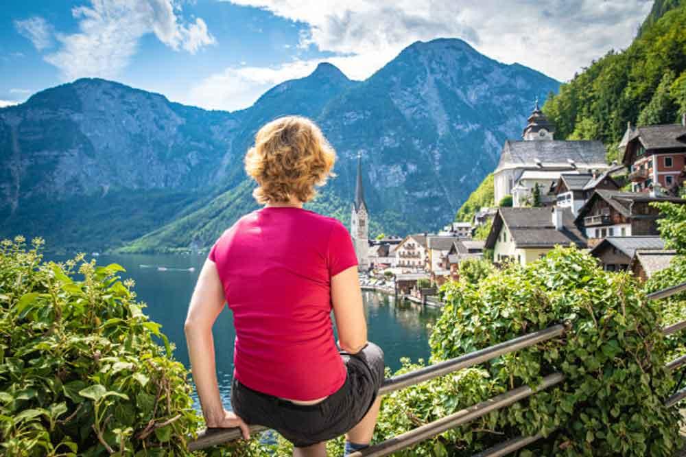 woman watching view