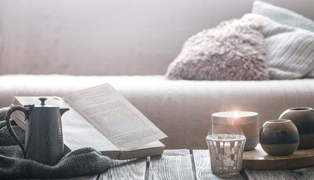 candles-blanket-book