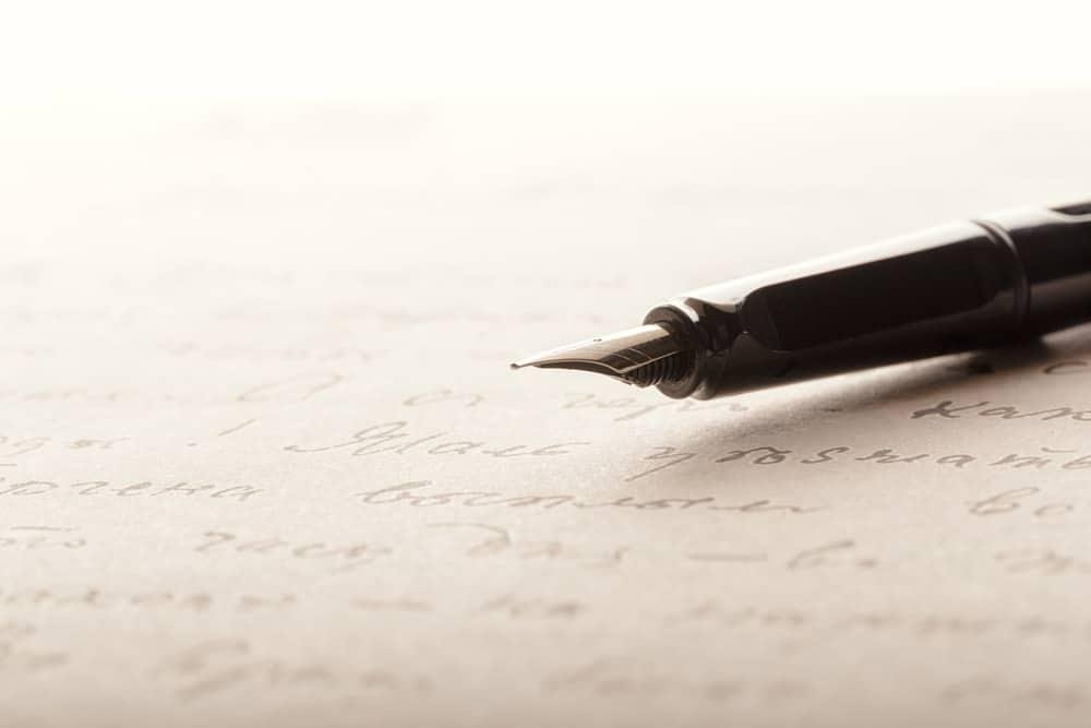 fountain-pen-written-page