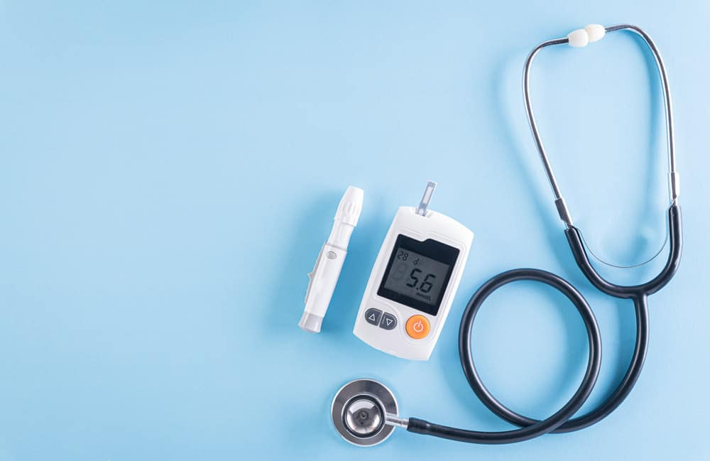 healthcare-medical-concept-stethoscope-blood-glucose-meter-sets