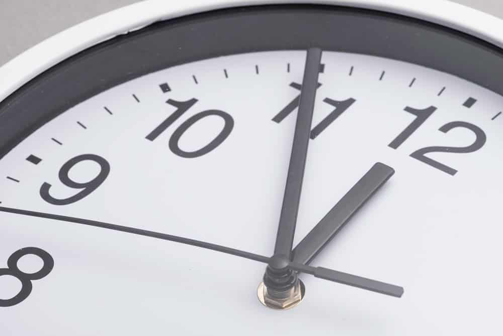close-up-white-clock-face