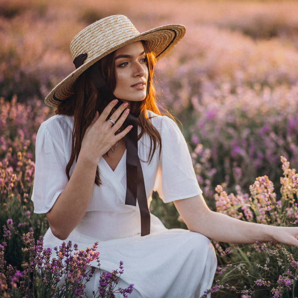 woman-white-dress-lavander-field